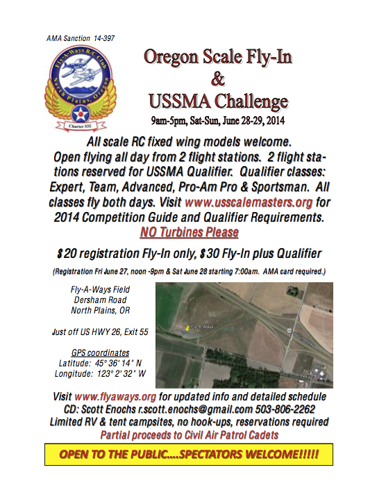 Scale Challenge Flyer